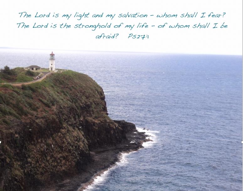 "Psalm 27:1, ""Kilauea Lighthouse, Kauai"", © 2014 by www.ReadPsalm119.com"